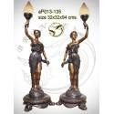 ( H .94 x L :32 Cm ) Lampe en bronze ap013-135