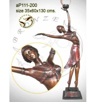 ( H .130 x L :60 Cm ) Lampe en bronze ap111-200