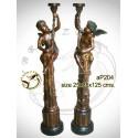 ( H .125 x L :35 Cm ) Lampe en bronze ap204-100
