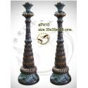 ( H .125 x L :35 Cm ) Lampe en bronze ap410-100