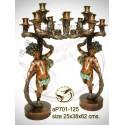 ( H .62 x L :38 Cm ) Lampe en bronze ap701-125