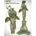 ( H .70 x L :31 Cm ) Lampe en bronze ap702-100