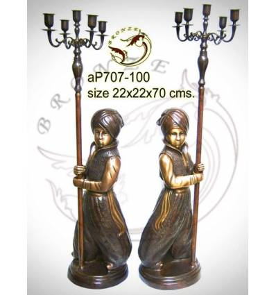 ( H .70 x L :22 Cm ) Lampe en bronze ap707-100