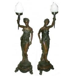 ( H .100 x L : Cm ) Lampe en bronze BRZ0318