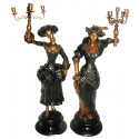 ( H .110 x L : Cm ) Lampe en bronze BRZ0320-43