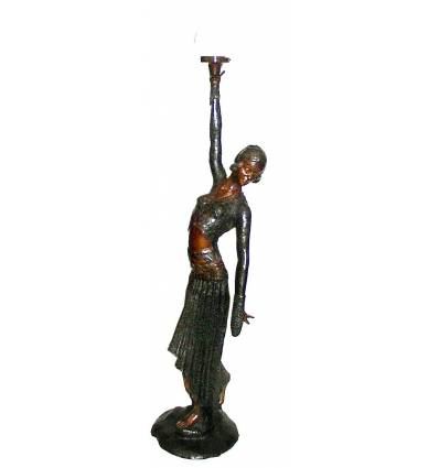 ( H .100 x L : Cm ) Lampe en bronze BRZ0322
