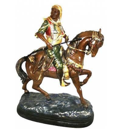 Sculpture de cavaliers arabe en bronze BRZ0145-52 ( H .132 x L :119 Cm ) Poids : 0 Kg