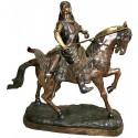 Sculpture de cavaliers arabe en bronze BRZ0707-23  ( H .58 x L :45 Cm )  Poids : 13 Kg