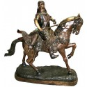 Sculpture de cavaliers arabe en bronze BRZ0707-50  ( H .127 x L :117 Cm )  Poids : 73 Kg
