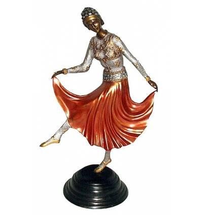 Sculpture de danseuse en bronze BRZ0440C ( H .50 x L : Cm ) Poids : 4 Kg
