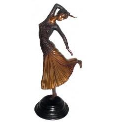 Sculpture de danseuse en bronze BRZ0441 ( H .50 x L : Cm ) Poids : 4 Kg