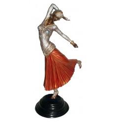 Sculpture de danseuse en bronze BRZ0441C ( H .50 x L : Cm ) Poids : 4 Kg