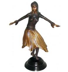 Sculpture de danseuse en bronze BRZ0442 ( H .50 x L : Cm ) Poids : 4 Kg