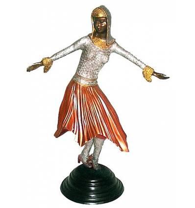 Sculpture de danseuse en bronze BRZ0442C ( H .50 x L : Cm ) Poids : 4 Kg