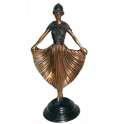 Sculpture de danseuse en bronze BRZ0443 ( H .50 x L : Cm ) Poids : 4 Kg