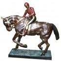 Sculpture de cavalier en bronze BRZ0062-24 ( H .60 x L :56 Cm ) Poids : 10 Kg