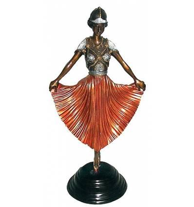 Sculpture de danseuse en bronze BRZ0443C  ( H .50 x L : Cm )  Poids : 4 Kg