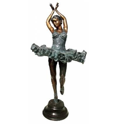 Sculpture de danseuse en bronze BRZ0751  ( H .185 x L :83 Cm )  Poids : 0 Kg