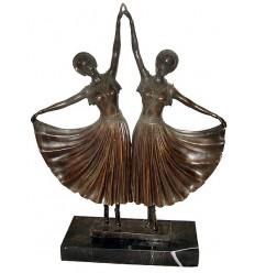 Sculpture de danseuse en bronze BRZ1035/SM117 ( H .58 x L :43 Cm ) Poids : 0 Kg