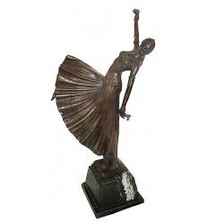 Sculpture de danseuse en bronze BRZ1036/SM122 ( H .51 x L :25 Cm ) Poids : 0 Kg