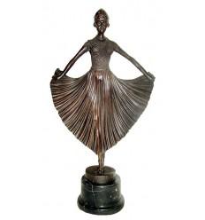 Sculpture de danseuse en bronze BRZ1037/SM099 ( H .53 x L :28 Cm ) Poids : 0 Kg