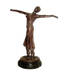 Sculpture de danseuse en bronze BRZ1041/SM031 ( H .40 x L :30 Cm ) Poids : 0 Kg