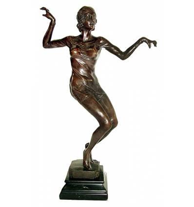 Sculpture de danseuse en bronze BRZ1043/SM022 ( H .40 x L :25 Cm ) Poids : 0 Kg