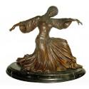 Sculpture de danseuse en bronze BRZ1046/SM050  ( H .30 x L :35 Cm )  Poids : - Kg