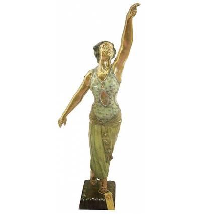 Sculpture de danseuse en bronze BRZ1152  ( H .125 x L : Cm )  Poids : 0 Kg