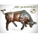 Taureau en bronze aa603-100  ( H .105 x L :185 Cm )  Poids :  Kg
