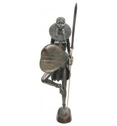 Sculpture africaine en bronze BRZ0025-24  ( H .58 x L : Cm )  Poids : 7 Kg
