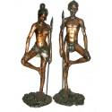 Sculpture africaine en bronze BRZ0279-36 ( H .91 x L :88 Cm ) Poids : 22 Kg