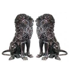 Lion en bronze BRZ87n  ( H . x L : Cm )  Poids :  Kg