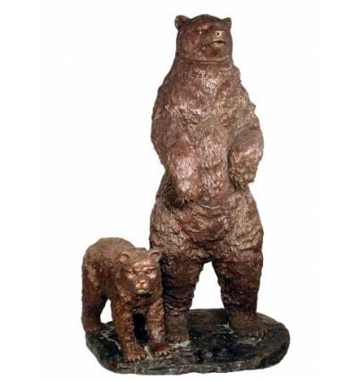 Ours en bronze BRZ0488  ( H .180 x L :111 Cm )  Poids : / Kg