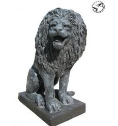 Lion en bronze BRZ410 ( H .120 x L :100 Cm ) Poids : 350 Kg