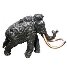 Mamouth en bronze BRZ0782  ( H .114 x L :190 Cm )  Poids : 120 Kg