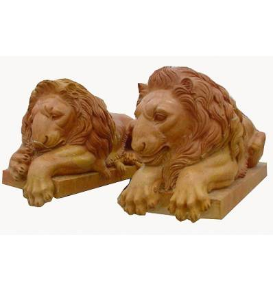 lion en marbre NA54