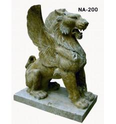 lion en marbre NA83