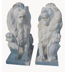 lion en marbre NA87