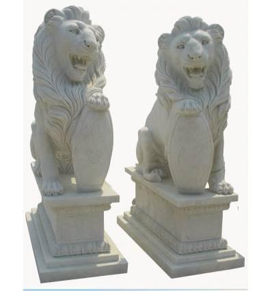 lion en marbre NA204
