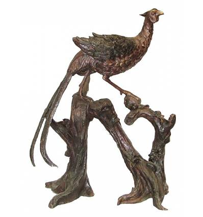 faisan en bronze BRZ1163  ( H .89 x L .76 Cm )  Poids : 26 Kg