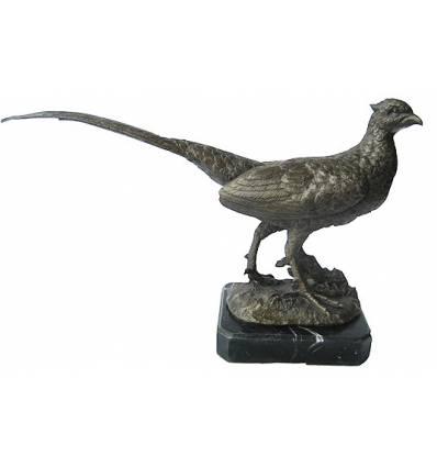 faisan en bronze BRZ1267/SM389  ( H .30 x L .51 Cm )  Poids : 8 Kg