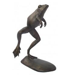 grenouille en bronze BRZ0173  ( H .76 x L .48 Cm )  Poids : 12 Kg