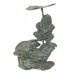 grenouille en bronze BRZ0628V  ( H .48 x L . Cm )  Poids : 8 Kg