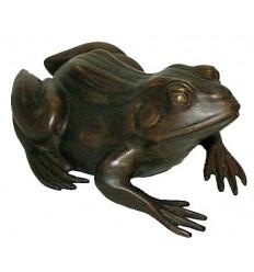 grenouille en bronze BRZ0631-15  ( H .17 x L . 38Cm )  Poids : 5 Kg