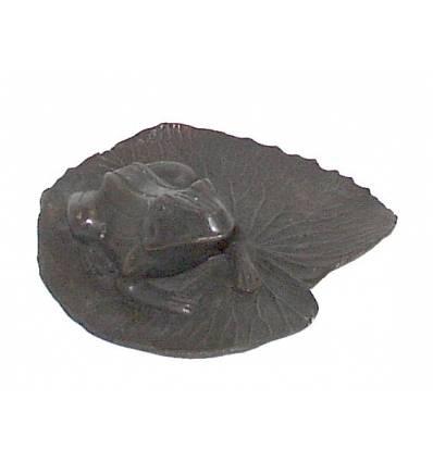 grenouille en bronze BRZ0634  ( H .22 x L . Cm )