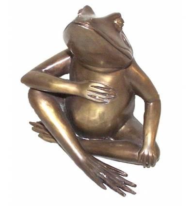 grenouille en bronze BRZ0935  ( H .20 x L .18 Cm )  Poids : 2 Kg