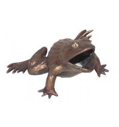 grenouille en bronze BRZ0937  ( H .10 x L .15 Cm )  Poids : 1 Kg