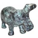 hippopotame en bronze BRZ0050V  ( H .28 x L .46 Cm )  Poids : 6 Kg