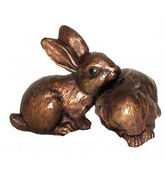 lapin en bronze BRZ0600  ( H .15 x L .15 Cm )  Poids : 2 Kg